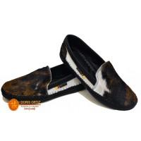 zapatos en cuero negro y blanco