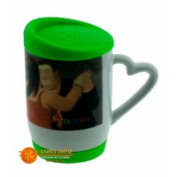 Mugs 12oz con Tapa Caucho Imágenes de Botero